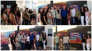 Активисты Центра армянского языка и культуры ПГУ посетили выставку художников Армении