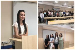 Встреча первокурсников ЮИ с выпускницей Татьяной Голубевой