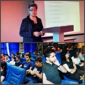 Профессор Юридического института ПГУ провела открытую лекцию для магистров и студентов Российско-Армянского университета