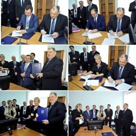 Ректор ПГЛУ А.П. Горбунов подписал договоры о сотрудничестве