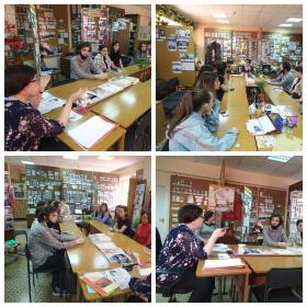 Студенты ИИЯМТ на встрече с директором Музея истории ПГУ Кленевской Л.К. в преддверии празднования Дня Победы