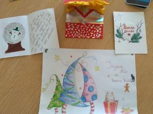 Конкурс рождественских и новогодних открыток  в Центре французского языка «Франкофония»